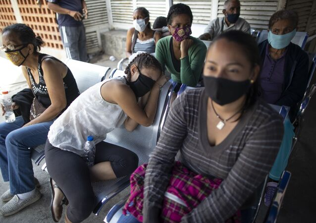 Pacientes en un hospital en Caracas