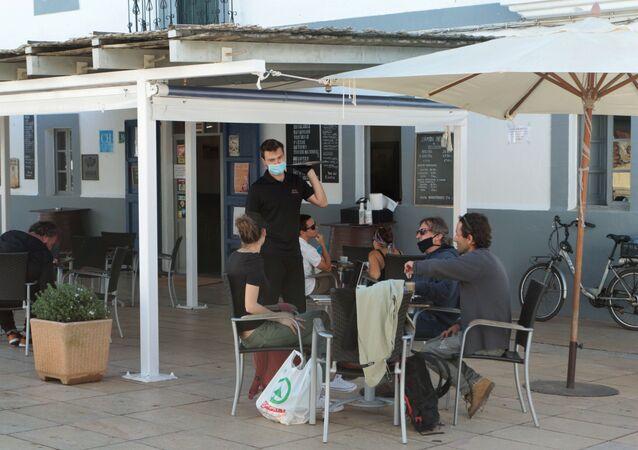 Desconfinamiento tras la cuarentena por coronavirus en la isla Formentera, España
