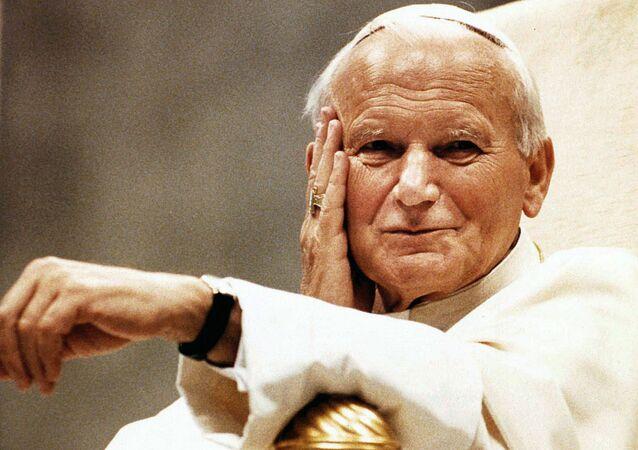 El papa Juan Pablo II en 1990