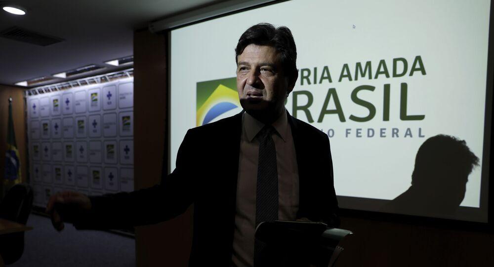 Exministro de Salud de Brasil, Luiz Henrique Mandetta