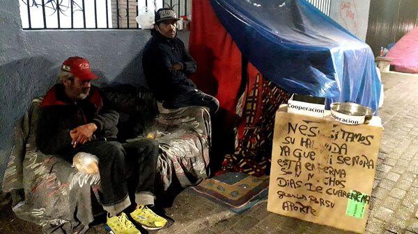 Personas en situación de calle en Chile - Sputnik Mundo