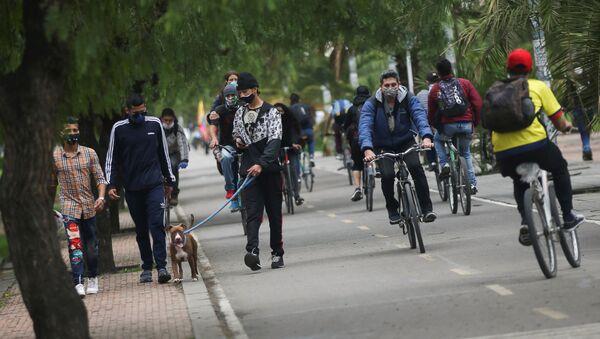 La gente en las calles de Bogotá - Sputnik Mundo