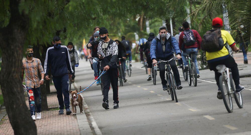 La gente en las calles de Bogotá