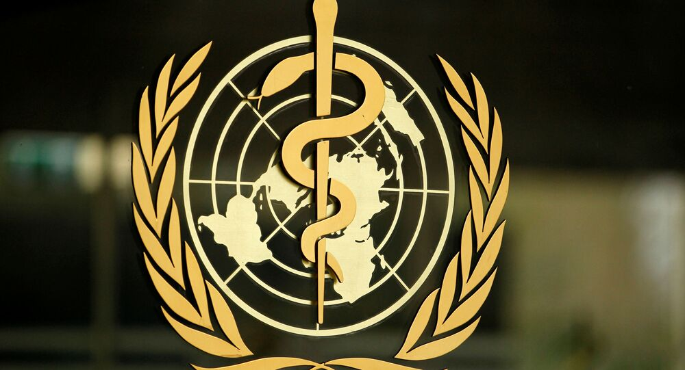 El logo de la Organización Mundial de la Salud
