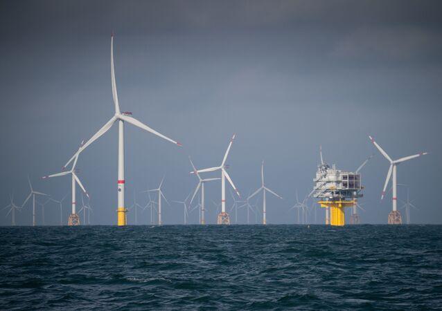 Parque eólico marino en Oostende (Bélgica)