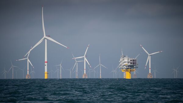 Parque eólico marino en Oostende (Bélgica) - Sputnik Mundo