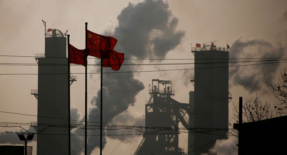 Una fábrica de acero en Wuhan