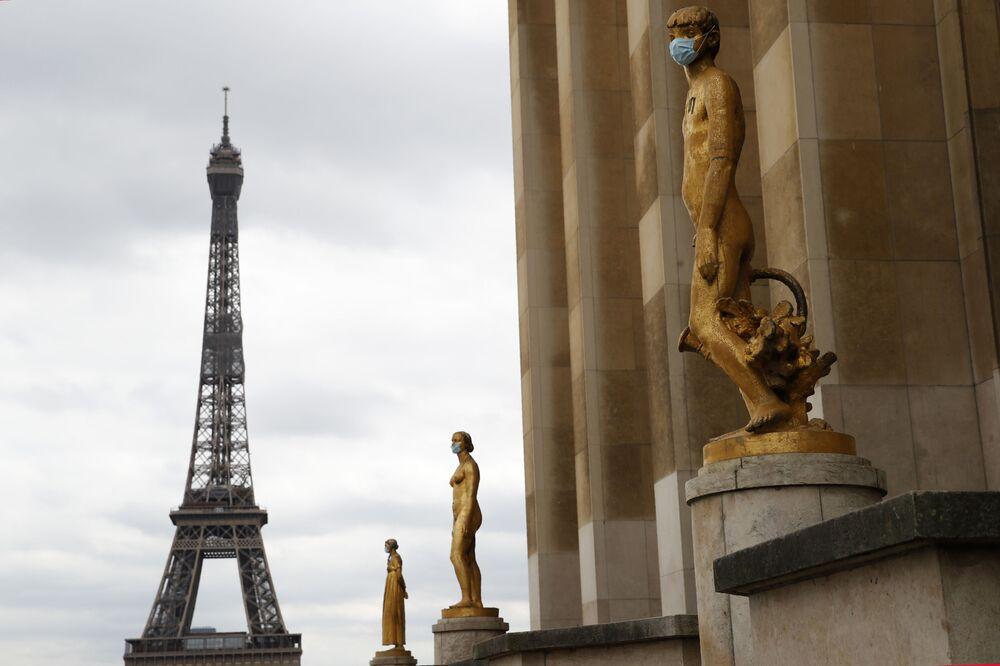 Estatuas en la Plaza Trocadero de París.