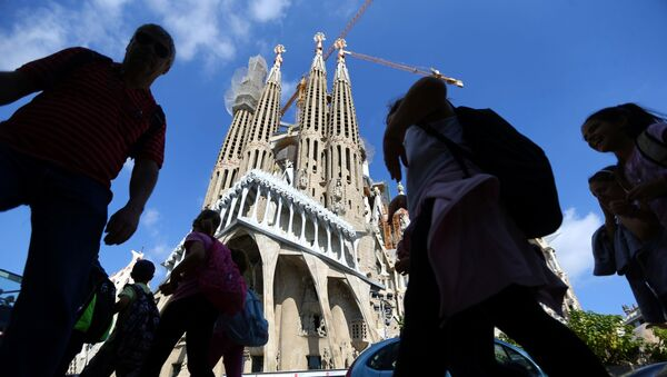 La construcción de la Sagrada Familia de Barcelona - Sputnik Mundo