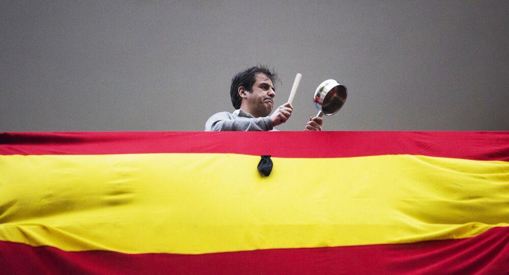 Las protestas en Madrid, España