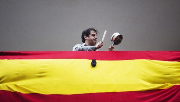 Las protestas en Madrid, España - Sputnik Mundo