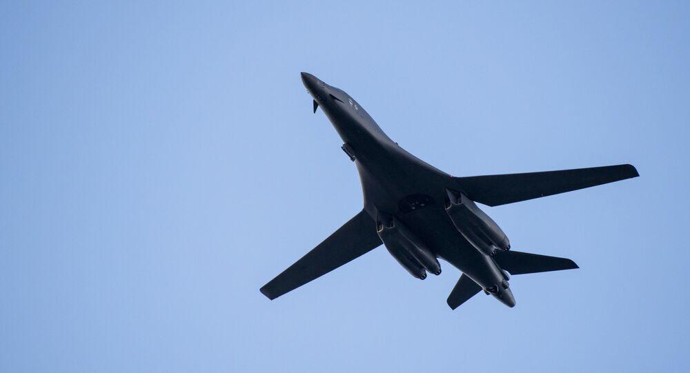 Un avión bombardero B-1 estadounidense (imagen referencial)