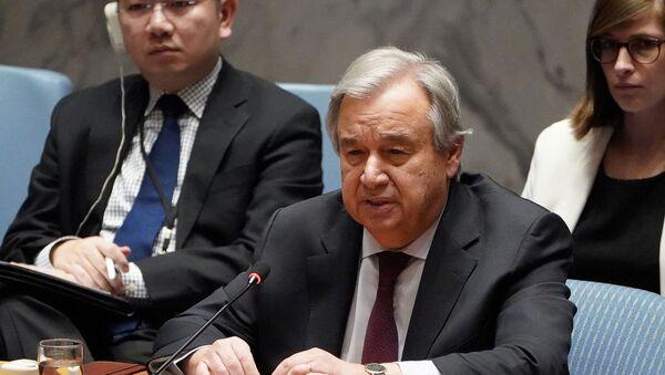 El secretario general de la ONU, Antonio Guterres - Sputnik Mundo