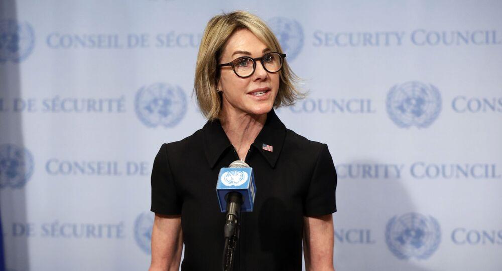 Kelly Craft, representante de EEUU ante el Consejo de Seguridad de la ONU