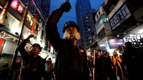 Protestas conra la Ley de extradición en Hong Kong  - Sputnik Mundo