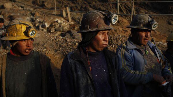 Mineros bolivianos - Sputnik Mundo