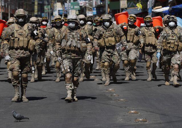 Soldados de las Fuerzas Armadas de Bolivia