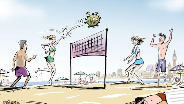 Veranear con el COVID: los británicos acuden a los balnearios ignorando la pandemia - Sputnik Mundo