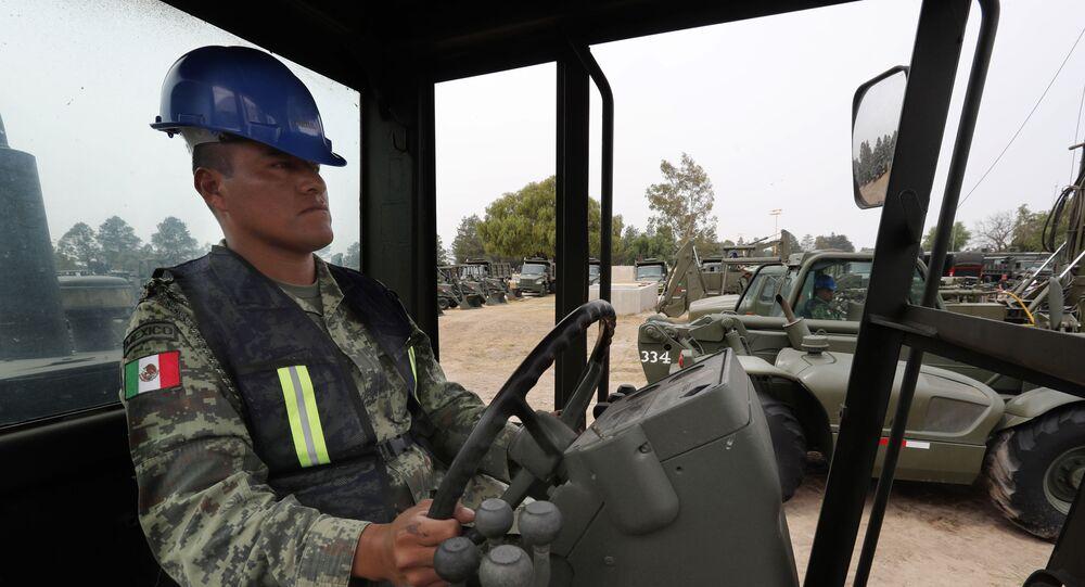 Inicio de los trabajos de construcción del aeropuerto General Felipe Ángeles en la base militar aérea Santa Lucía