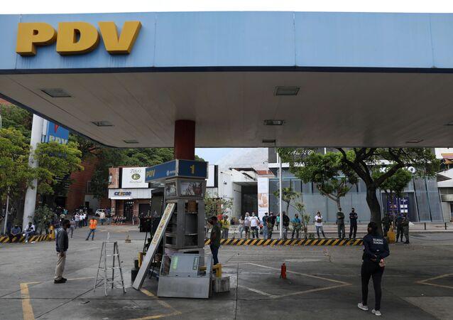 Estación de combustibles en Caracas