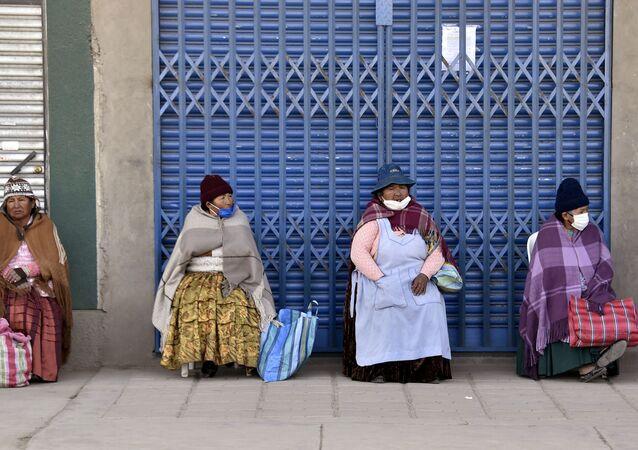 Mujeres indígenas en El Alto, Bolivia