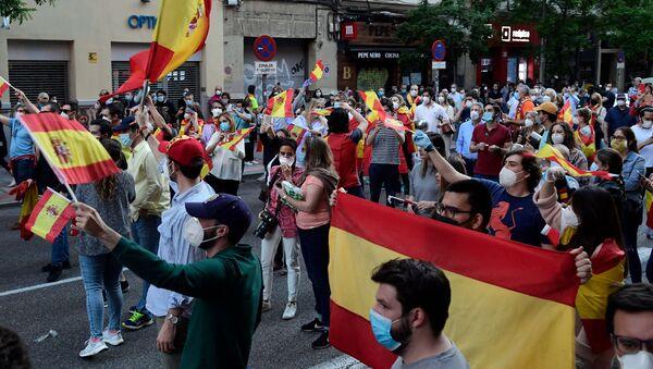 Protesta contra el Gobierno español en Madrid  - Sputnik Mundo