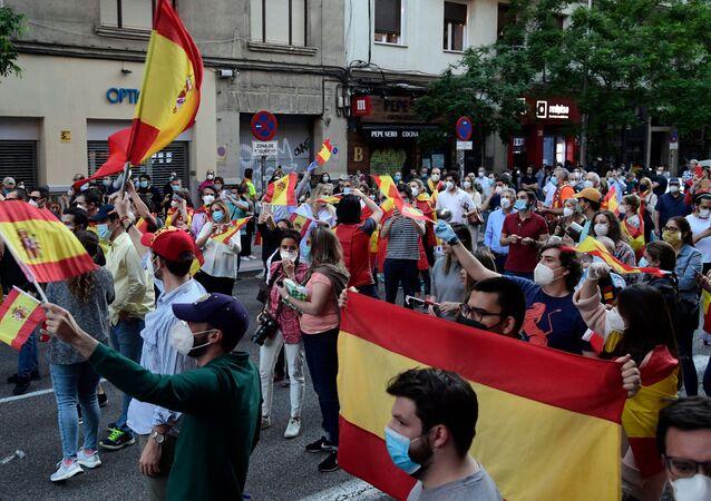 Protestas en España (Archivo)