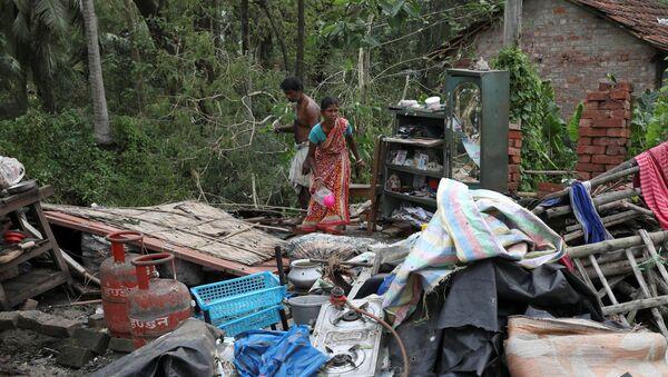 Consecuencias del ciclón en estado indio de Bengala Occidental - Sputnik Mundo