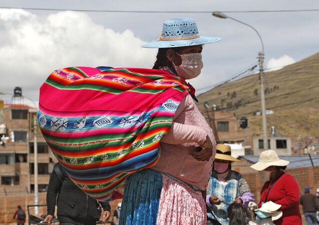 Una mujer indígena en Perú
