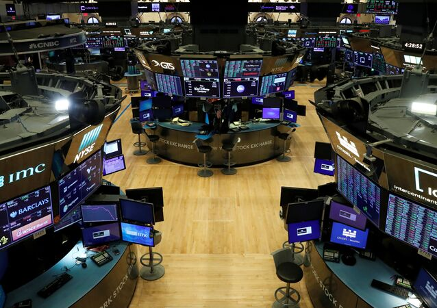 Bolsa de Nueva York, EEUU, durante la pandemia del COVID-19