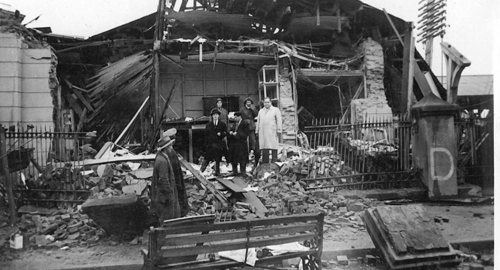 Destrozos del terremoto de Valdivia, al sur de Chile, en 1960