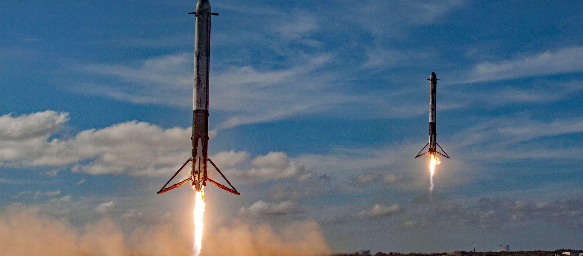 El cohete Falcon Heavy - Sputnik Mundo, 1920, 22.05.2020