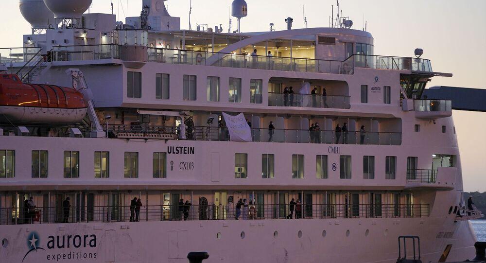 El crucero australiano Greg Mortimer