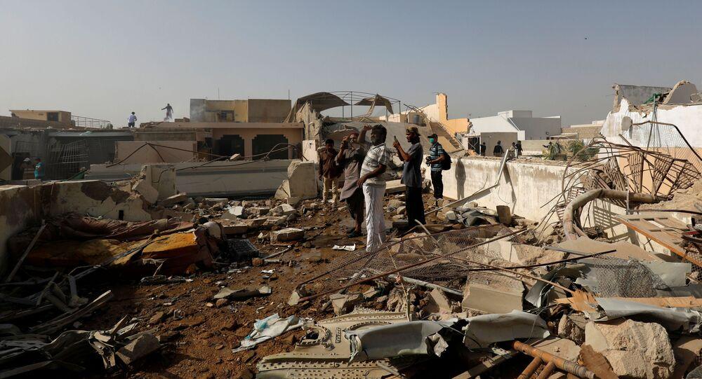 Lugar del accidente del avión Airbus A-320 en Pakistán