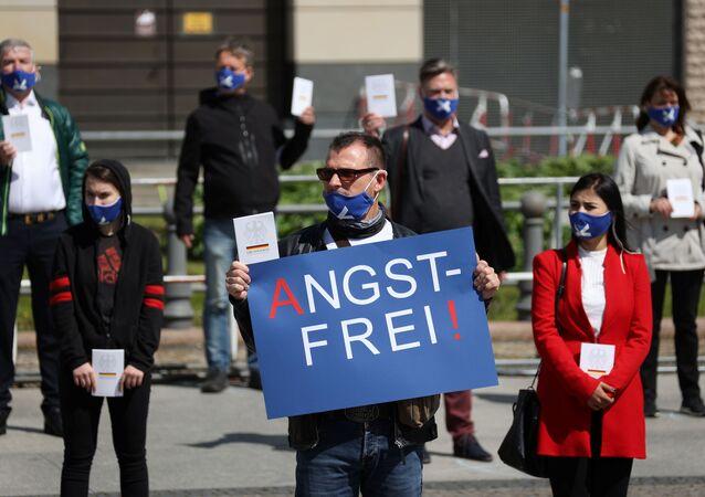 Manifestaciones contra el confinamiento en Alemania