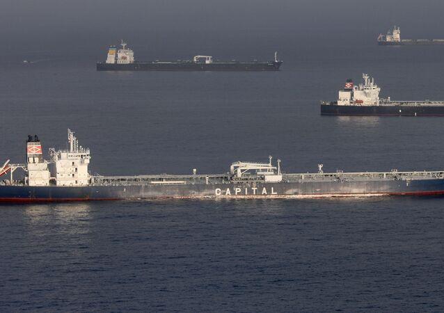 Petroleros en la costa de EEUU (el 28 de abril de 2020)