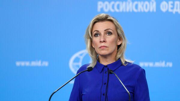 María Zajárova, portavoz del Ministerio de Relaciones Exteriores de Rusia - Sputnik Mundo
