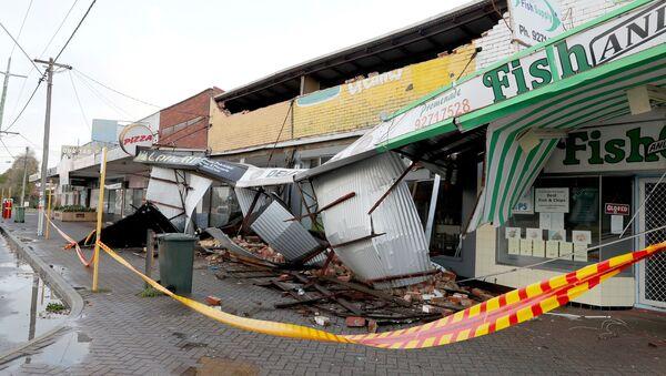 Consecuencias de una fuerte tormenta en Australia Occidental  - Sputnik Mundo