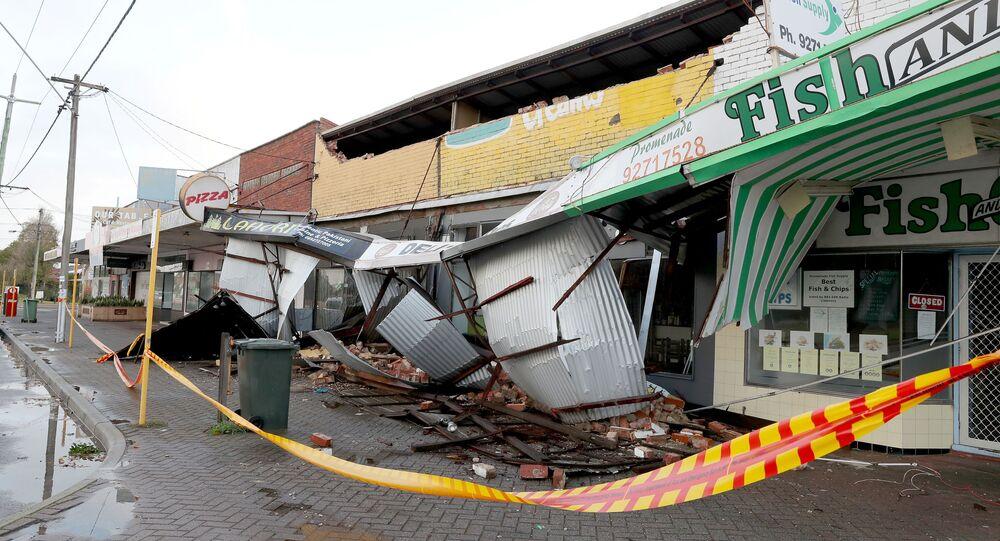 Consecuencias de una fuerte tormenta en Australia Occidental