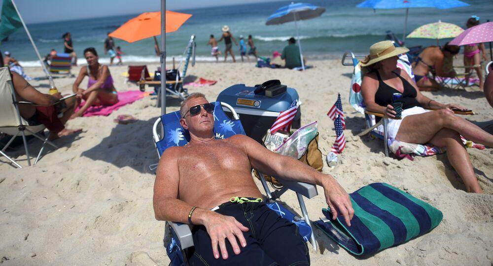 Una playa en Nueva Jersey, EEUU