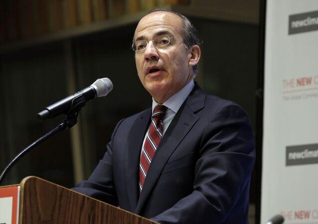 El expresidente de México Felipe Calderón