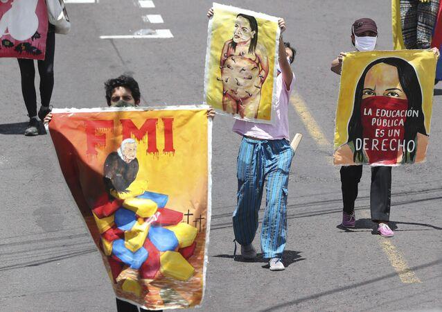 Protestas contra el Gobierno de Ecuador