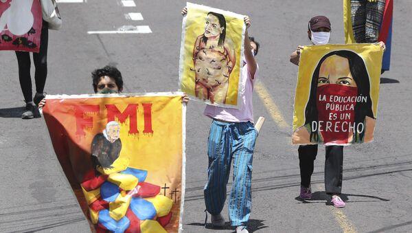 Protestas contra el Gobierno de Ecuador - Sputnik Mundo
