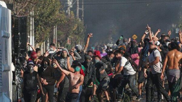 Manifestaciones de protesta en El Bosque, Santiago - Sputnik Mundo