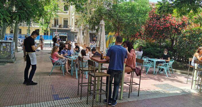 Terraza en la plaza de Olavide (Madrid)
