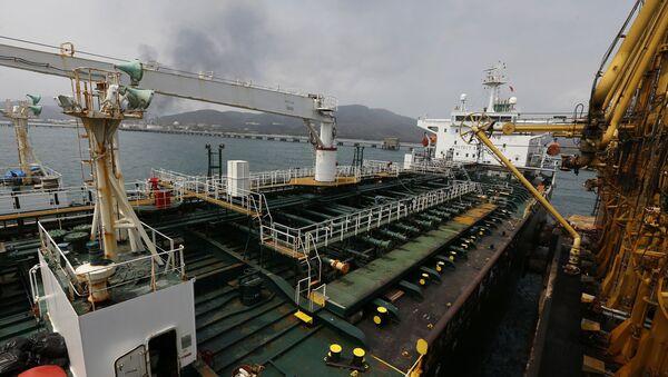 Cubierta del buque iraní Fortune al arribar a costas venezolanas - Sputnik Mundo