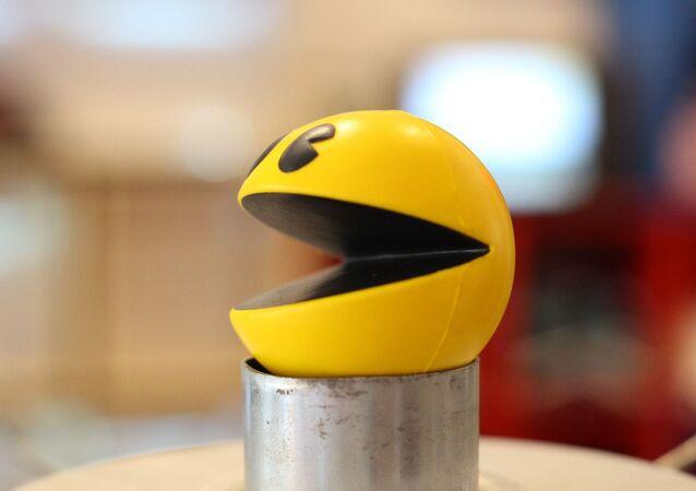 Una figura tridimensional de Pacman, el videojuego lanzado en 1980. Imagen referencial