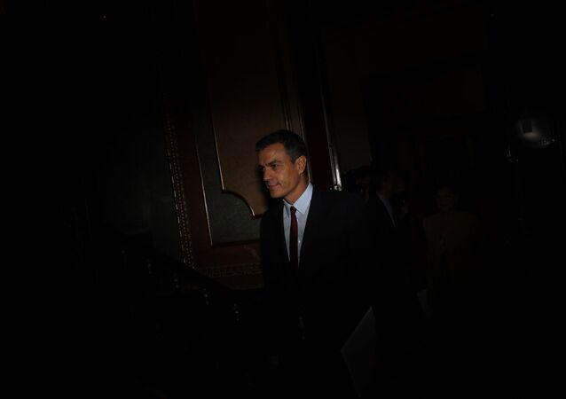 Pedro Sánchez en el parlamento español