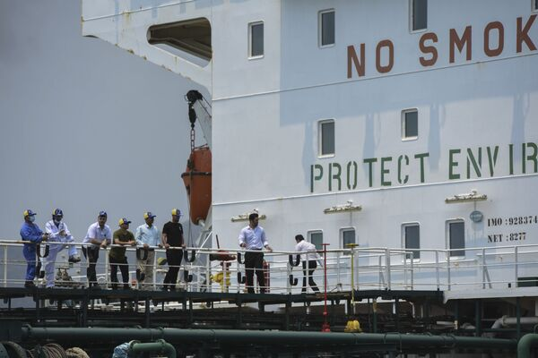 Llega a Venezuela el primero de los cinco buques petroleros enviados desde Irán   - Sputnik Mundo