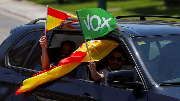 Las banderas de España y Vox - Sputnik Mundo